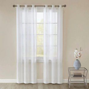"SALT™ Lora 2-Pack 84""Grommet Sheer Window Curtain"